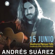 Comprar CONCIERTO CREAMURCIA 2018 - FINAL POP/ROCK - ANDRÉS SUÁREZ.