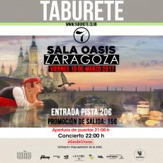 Comprar entradas taburete en zaragoza sala oasis for Sala oasis zaragoza